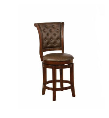 "Picture of GRANVILLE 24"" ESPRESSO SWIVEL BAR STOOL"