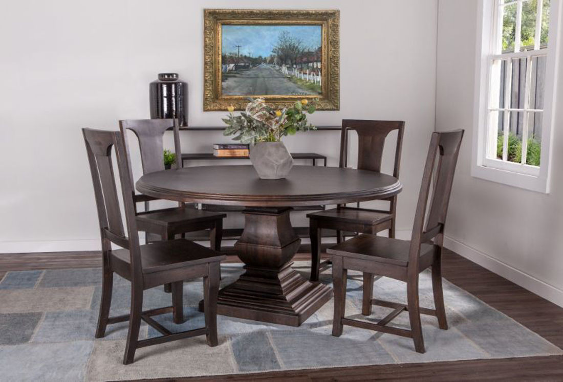 Picture of NIMES ROUND SOLID WOOD DINING SET
