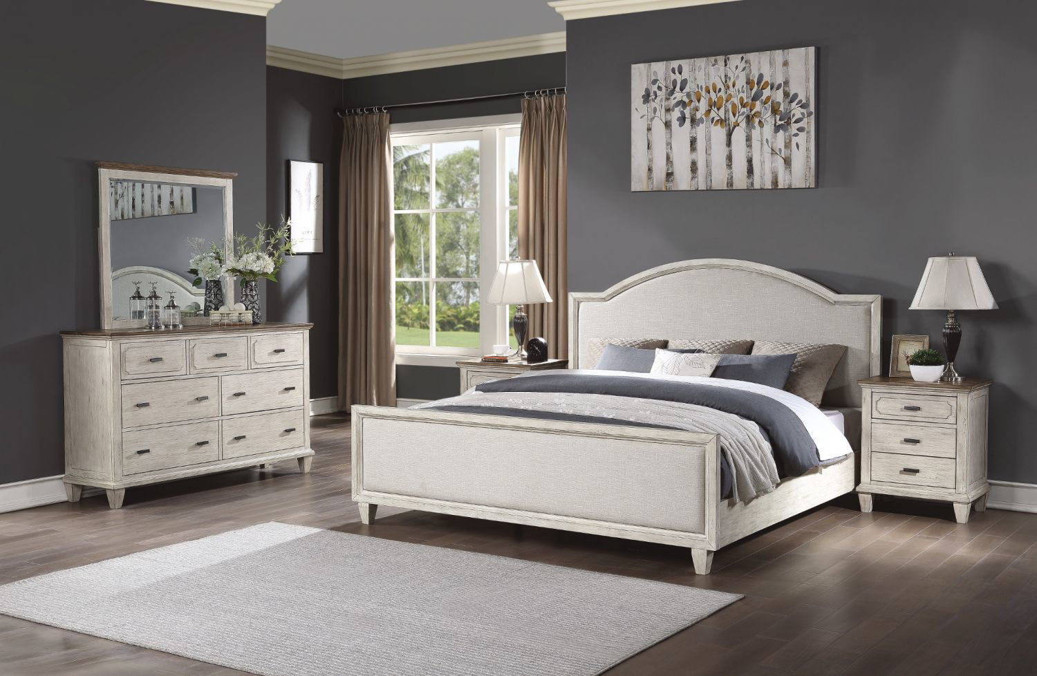 Picture of NEWPORT UPHOLSTERED QUEEN BED