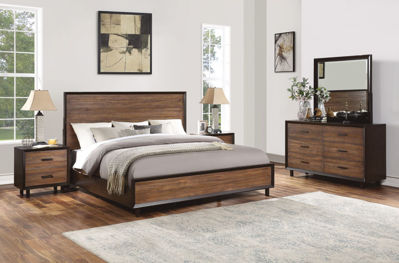 Picture of ALPINE QUEEN PANEL BEDROOM SET