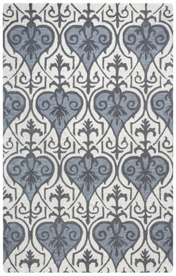 Picture of SP.O. VALINTINO BLUE WOOL RUG