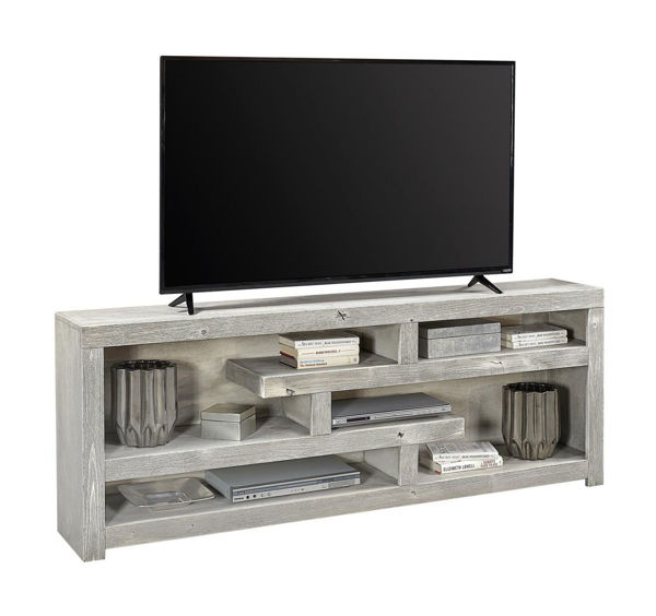 """Picture of AVERY LOFT 72"""" LIMESTONE DISPLAY CONSOLE"""