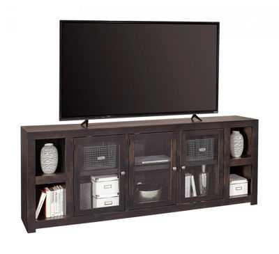 "Picture of AVERY LOFT 84"" GHOST BLACK TV CONSOLE"