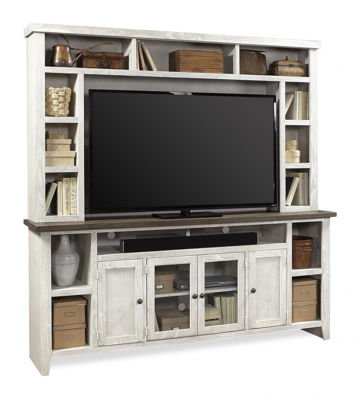 "Picture of EASTPORT 84"" DRIFTED WHITE TV ENTERTAIMENT"