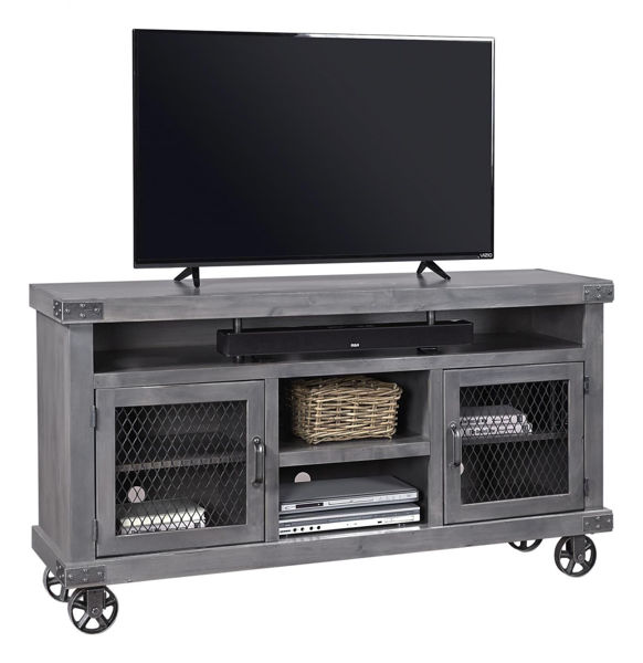 "Picture of INDUSTRIAL 65"" GHOST BLACK TV CONSOLE"