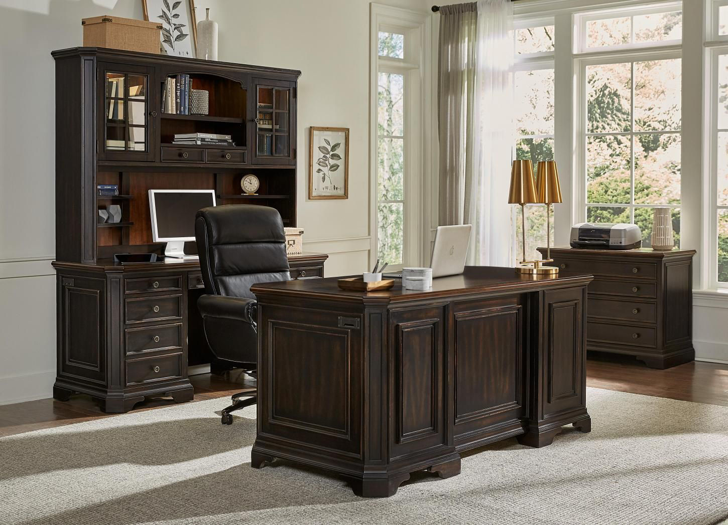 Picture of HAMPTON COMPUTER CREDENZA AND HUTCH