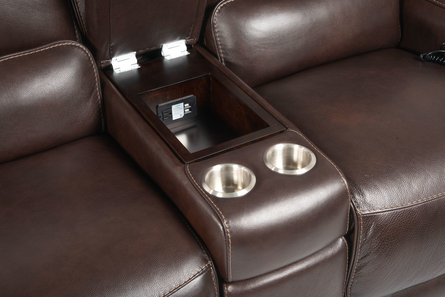 Picture of BERGAMO ALL LEATHER POWER RECLINING SECTIONAL