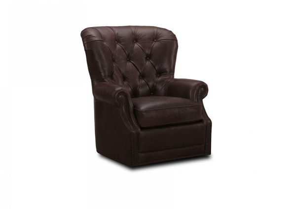 Picture of HILLSBORO BOMBER JACKET ALL LEATHER SWIVEL CHAIR