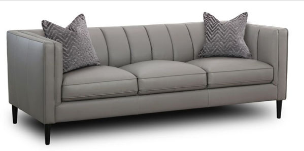 Picture of BALI LIGHT GRAY ALL LEATHER SOFA
