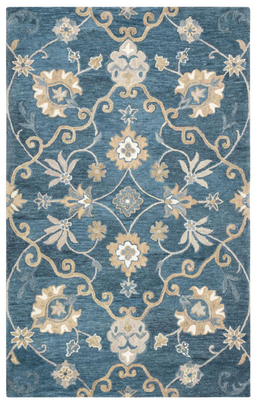 Picture of LEONE BLUE WOOL RUG