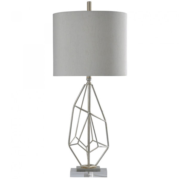 Picture of SILVER LEAF TABLE LAMP