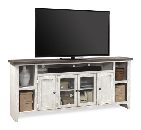 """Picture of EASTPORT 84"""" DRIFTED WHITE TV CONSOLE"""
