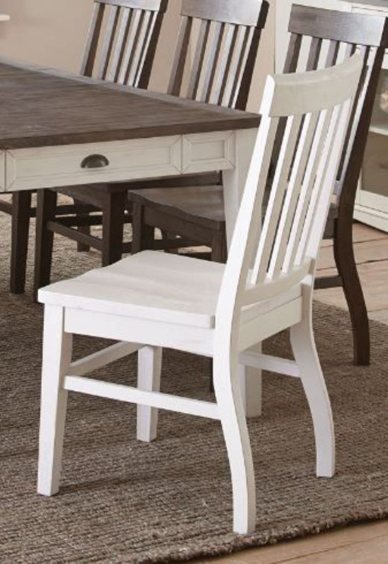 Picture of CAYLA WHITE SIDE CHAIR