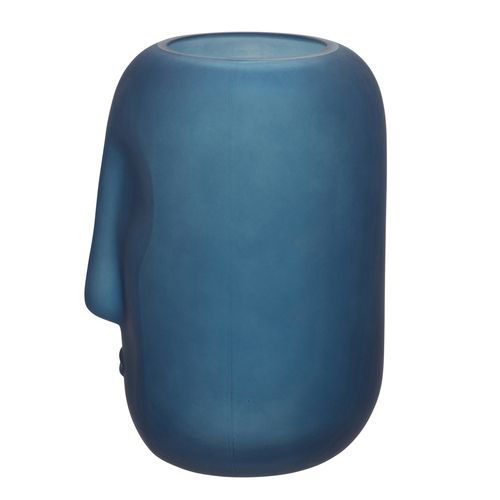 Picture of BLUE GLASS FACE VASE